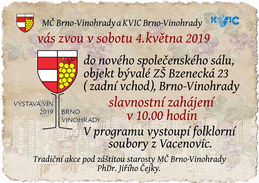 Výstava vín 2019 Brno-Vinohrady