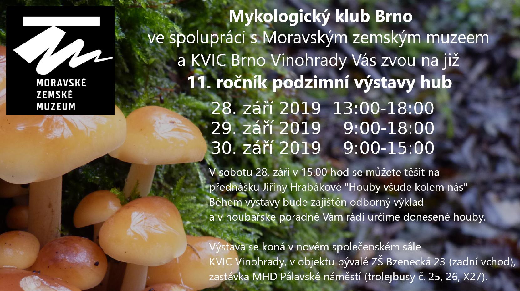 11. ročník podzimní výstavy hub